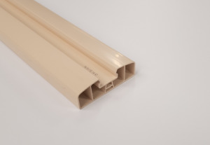 Barre Volet PVC Sable 80 mm/ml
