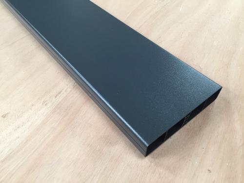 Lisse PVC Anthracite Droite 80x26x1,2 mm/ml